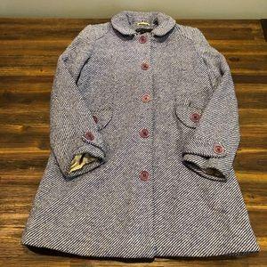 Marc Jacobs Blue Tweed Coat